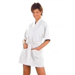 Veste blanche de kimono Polyplus 2 poches